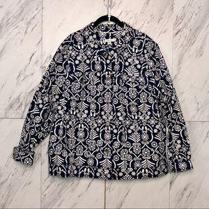 Liz Claiborne Navy Button Jacket Blazer SZ 24W